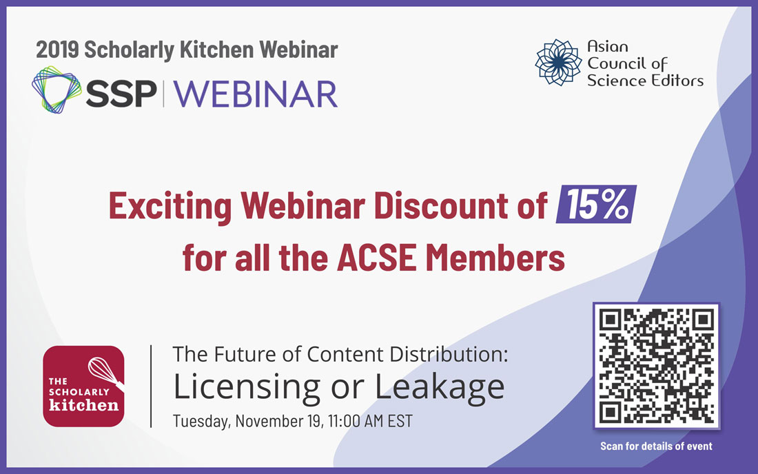 Hurry Up! Avail the 15% Discount on Scholarly Kitchen Webinar